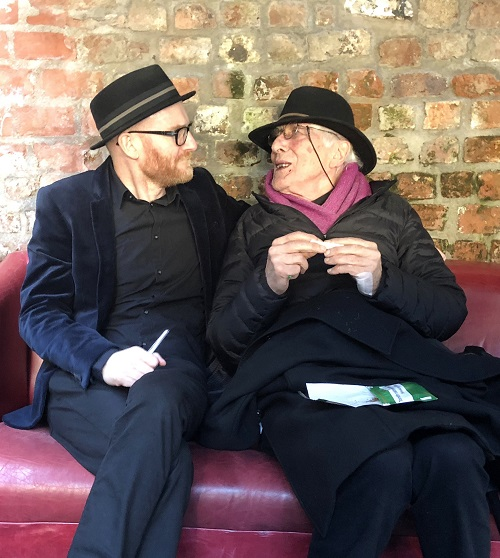 Paul Young and Tomi Ungerer at Kilkenny Animated